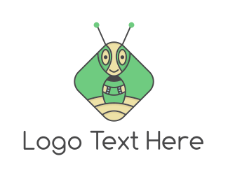 Airship - Extraterrestrial Robot Ant logo design