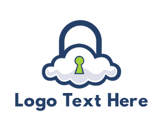 Cloud Computing - Cloud Security logo design