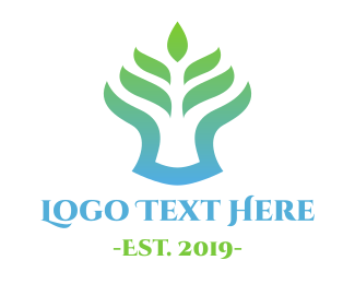 Services - Gradient Fern logo design