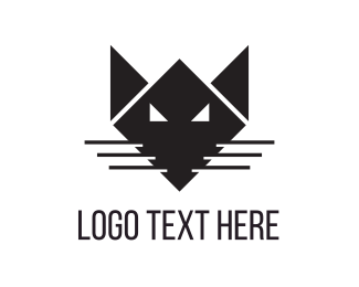 Whiskers - Black Fox logo design