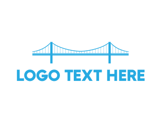 Tourist - Blue Anchored Bridge  logo design