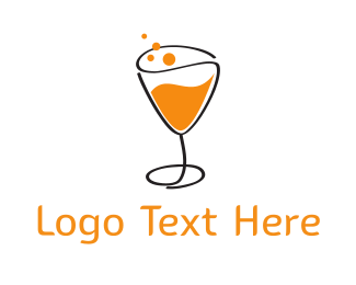 Alcoholic - Orange Sparkling Juice logo design