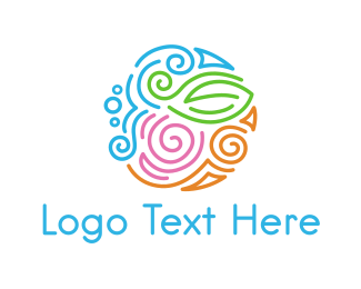 Colorful - Colorful Nature Circle logo design