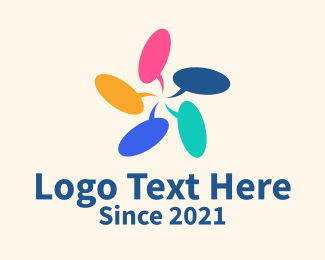 Translation - Colorful Forum logo design