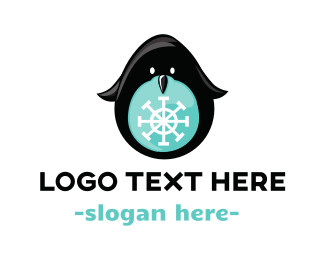 Snow Penguin Logo
