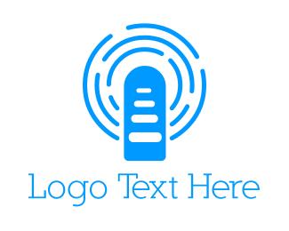 Podcast - Blue Broadcast logo design