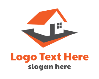 Neighborhood - Red Roof House logo design