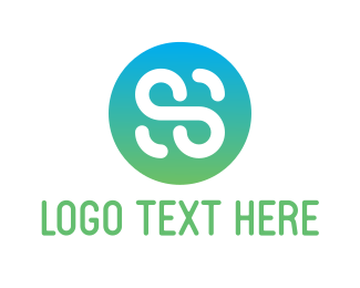Letter S Button Logo Maker