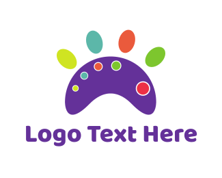 Grooming - Paw Palette logo design