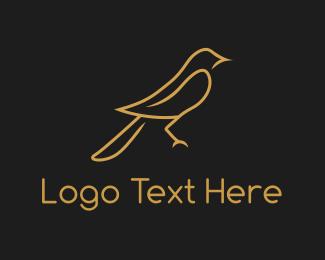 Swallow - Golden Sparrow logo design