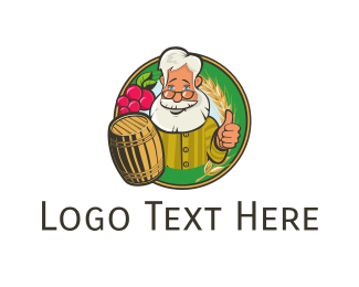 Brewery - Grandpa & Barrel logo design