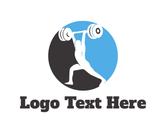 Fit - Bodybuilding Circle logo design