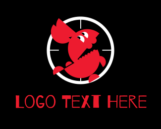 Gun Club - Rabbit Target logo design