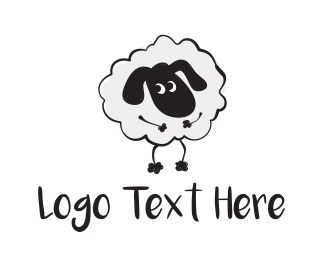 Alpaca - Cute Sheep logo design