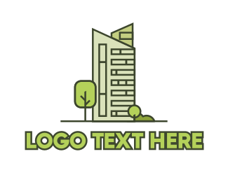 Real Estate - Green City Building logo design