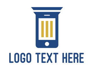 Smartphone - Column Phone logo design