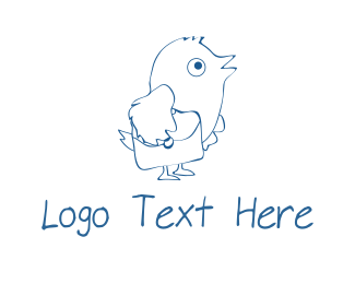 Dove - Carrier Pigeon logo design