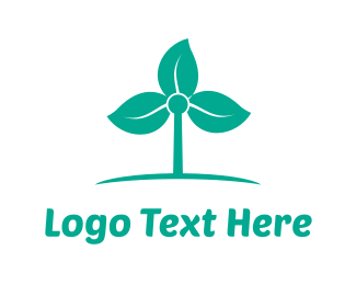Solar Panel - Windmill Flower logo design