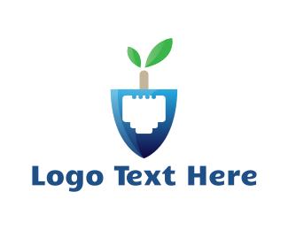 Usb - Digital Shovel logo design