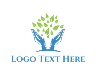 Hospice - Green Foliage logo design