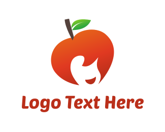 Hairstyle - Apple Girl logo design