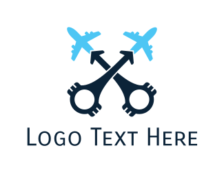 Aeroplane - Aviation Engine logo design