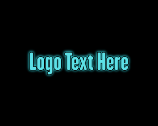 Glow - Blue Glow logo design