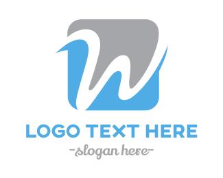 Lawyer - Cursive W logo design