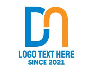 Letter D - D & N logo design