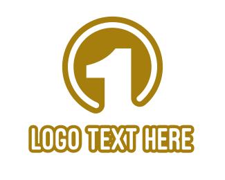 Number 1 - Gold Medal Number 1  logo design