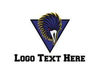 Raven - Blue Raven logo design