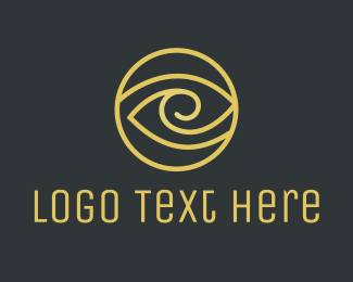 Mascara - Gold Circle logo design