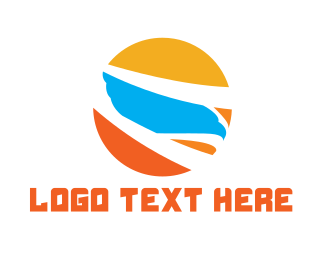 Airport - Bird Sun logo design