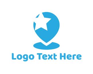 Place - Star Pin logo design