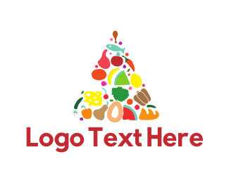 Bread - Food Triangle logo design