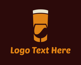 Meetup - Beer & Wine logo design