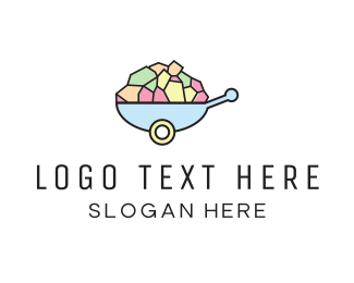 Sweets - Wheelbarrow Colorful logo design