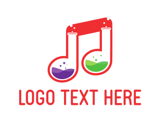 House Music - Music Lab  logo design