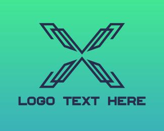 Clan - Modern Lines X logo design