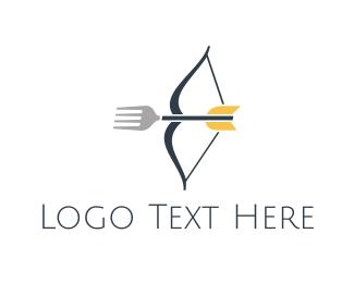 Archery - Fork Shooting logo design