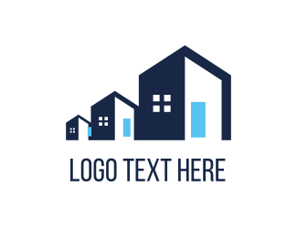 Development - Blue  Property logo design