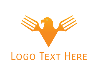 Chef - Fork Eagle logo design