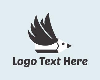 Write - Pencil Bird logo design