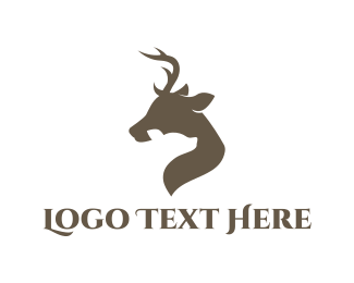 Reindeer - Brown Fawn logo design