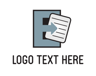 Note - Grey Letter E logo design