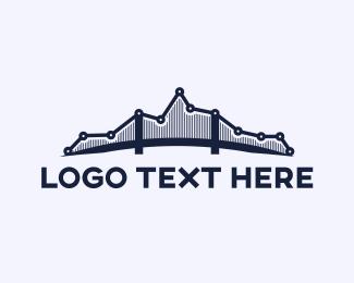 Sales - Analytic Bridge logo design