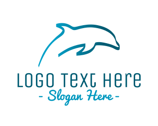 Sea - Blue Dolphin logo design