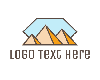 Egypt - Abstract Pyramid logo design