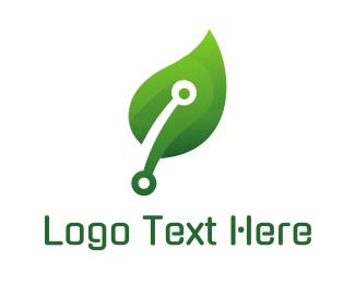 Naturopath - Green Mechanical Leaf logo design