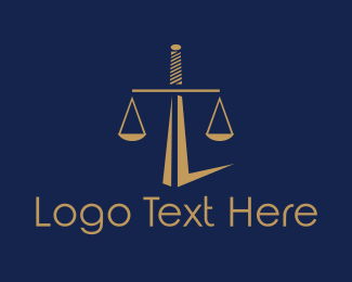 Legal - Sword Balance logo design
